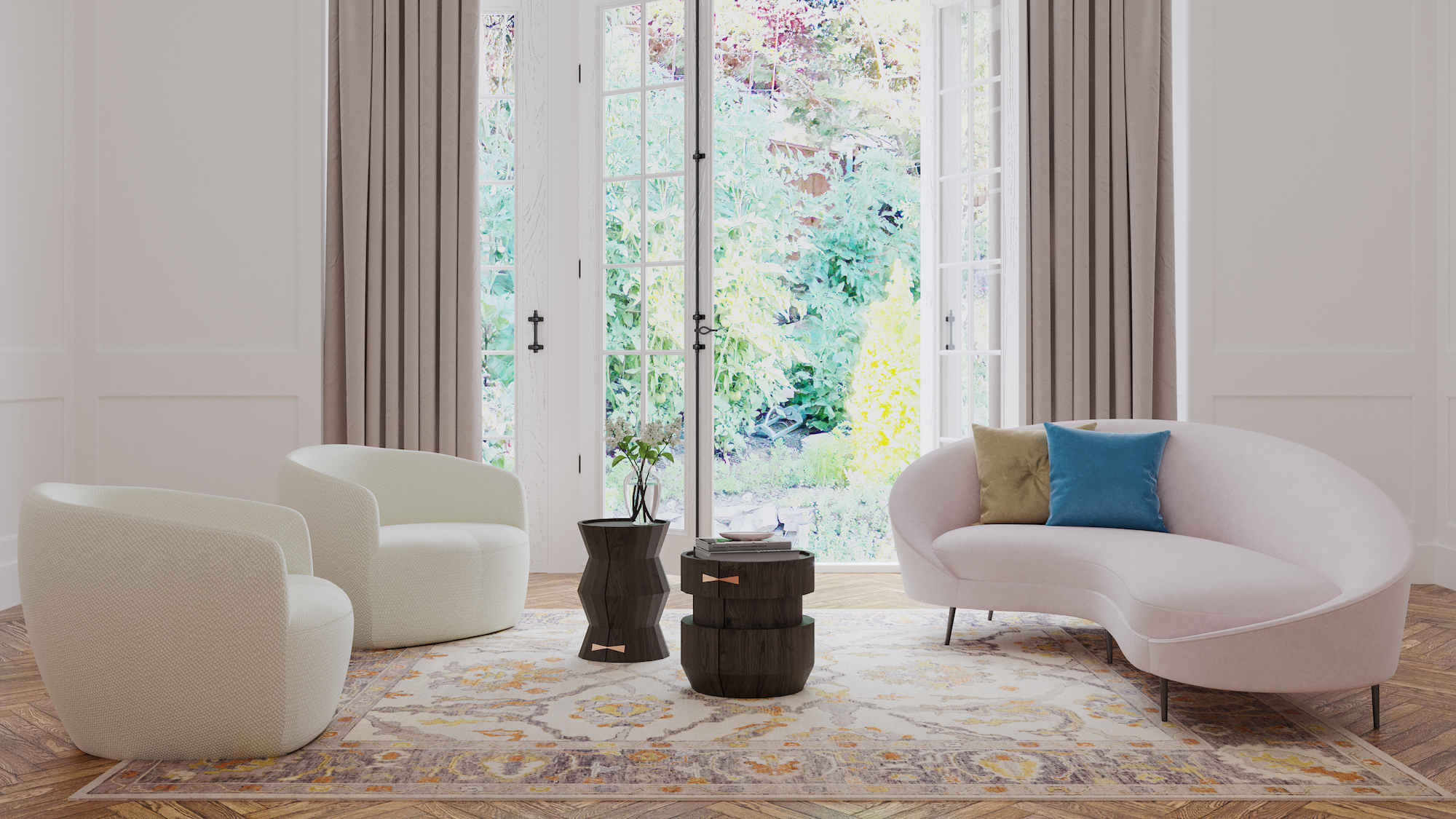 HAND KNOTTED CLASSIC AREA RUGS AT VAHEED TAHERI MODERN RUGS SHOWROOM IN SAN FRANCISCO 'S BEST RUG GALLRY